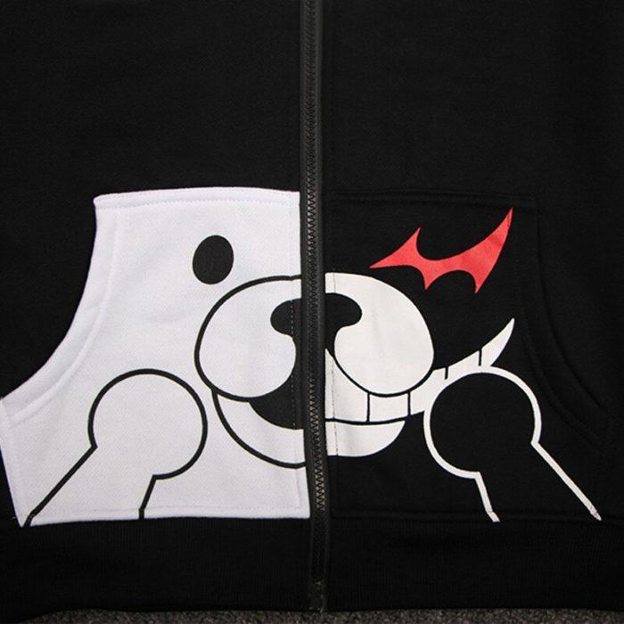 Danganronpa Monokuma Cosplay Kostüm Unisex Hoodie Sweatshirt T-shirt Mit Kapuze Jacke Täglich Casual Mantel Spiel Anime Peripheren 6