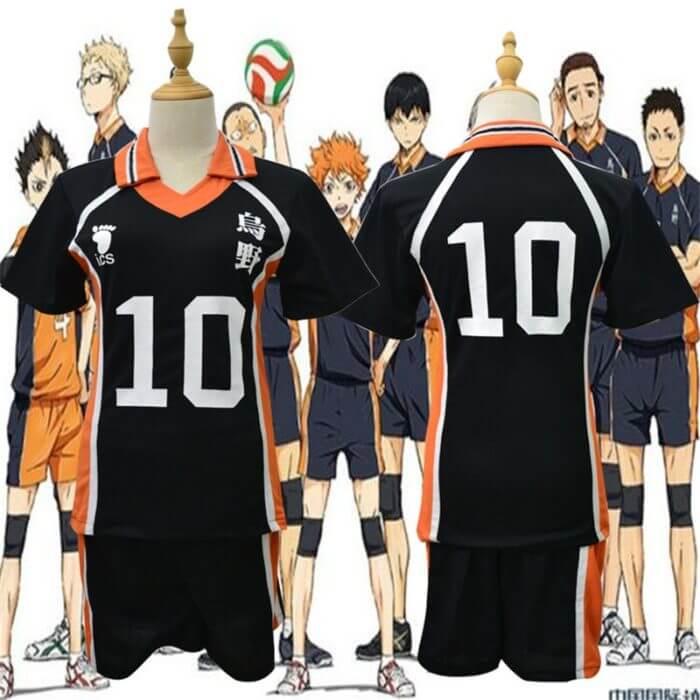 9 stile Haikyuu Cosplay Kostüm Karasuno Gymnasium Volleyball Club Hinata Shyouyou Sportswear Trikots Uniform 2