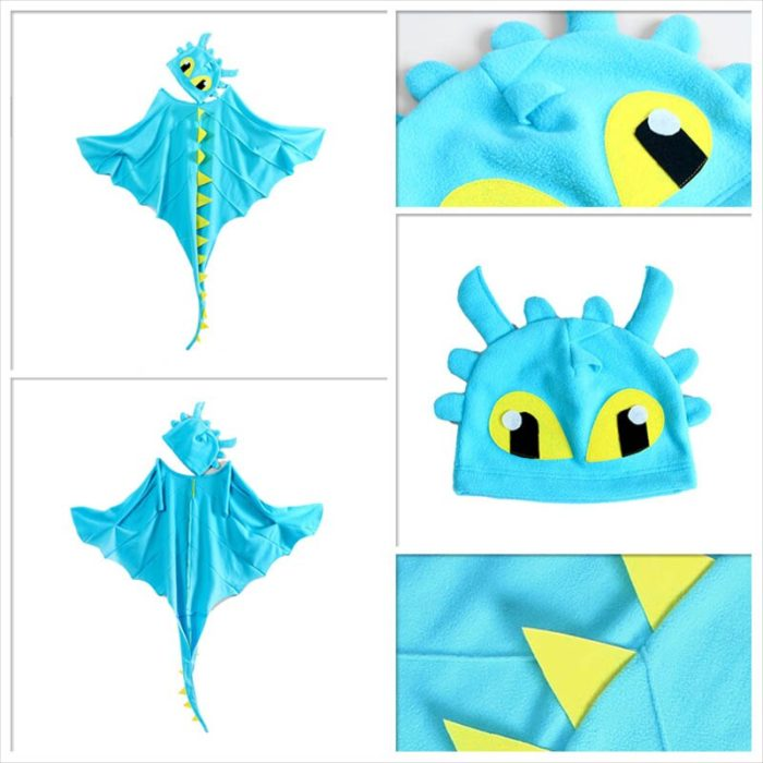 Drachen Kostüm Mantel mit Hut Zahnlos Drache Kostüm Cape Anime Cosplay Kostüme Dinosaurier Kostüm 5