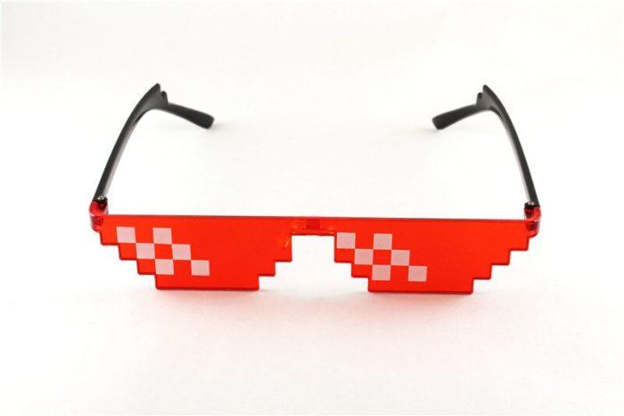 ES Mosaik Sensation Sterne Liebe Pixel Gläser Cosplay Kostüme Zubehör Brillen ACG Boss Thug Life Erwachsene Kinder Sonnenbrille 13