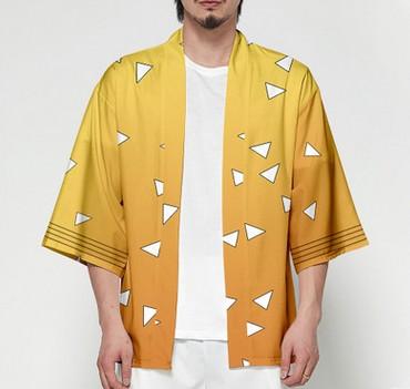 Unisex Dämon Slayer Kimetsu keine Yaiba Zeichen Cosplay Kimono Haori Mantel Shirt 7