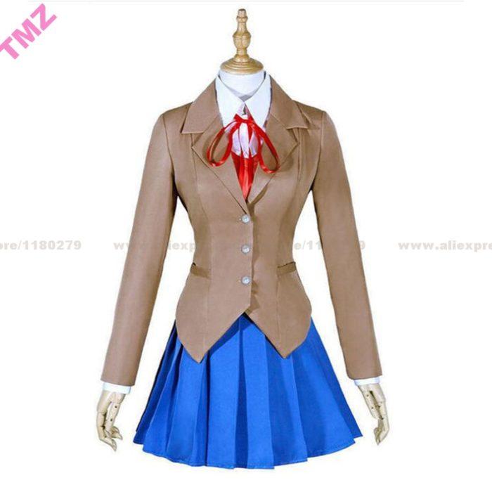 Doki Doki Literatur Club Monika Cosplay Sayori Yuri Natsuki Cosplay Kostüm Schuluniform Mädchen Frauen Kostüm Spiel 1