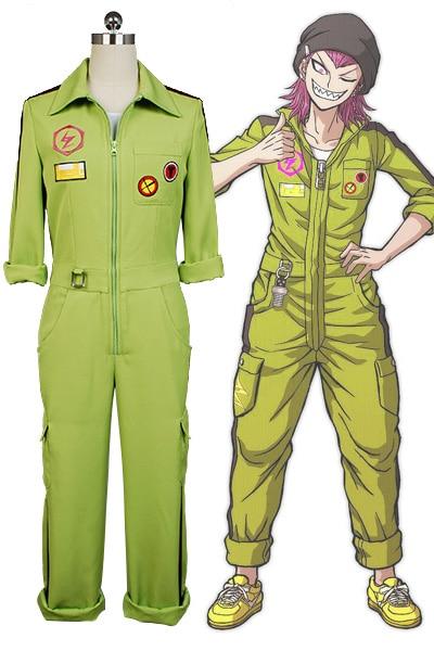 Super DanganRonpa Kazuichi Souda Cosplay Kostüm Full Set Outfit Männer Frauen Overall Benutzerdefinierte 1