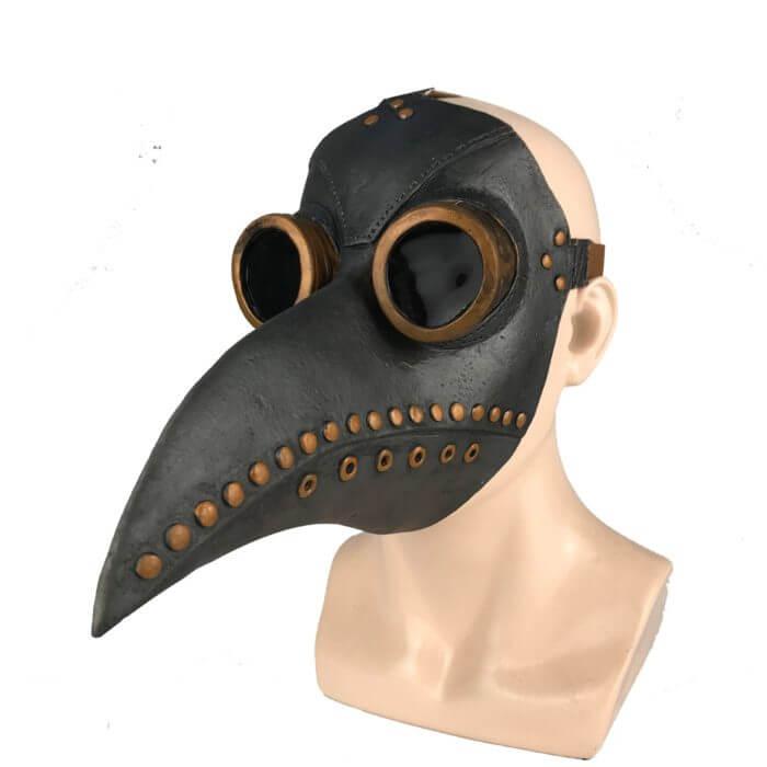 Lustige Medieval Steampunk Pest Arzt Vogel Maske Latex Punk Cosplay Masken Schnabel Erwachsene Halloween Event Cosplay Requisiten 2