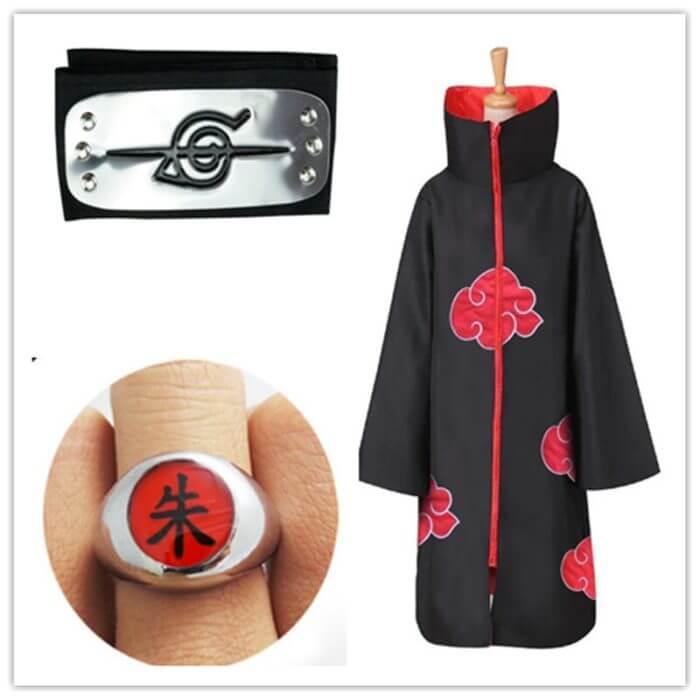 Naruto Kostüm Akatsuki Mantel Cosplay Sasuke Uchiha Cape Cosplay Itachi Kleidung Cosplay kostüm S-XXL 2