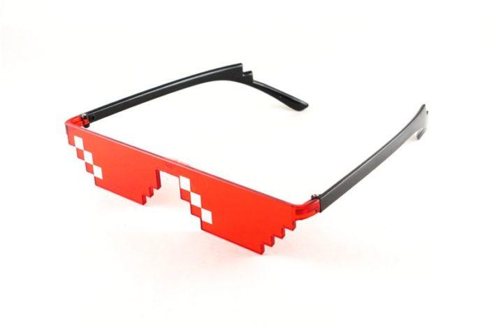 ES Mosaik Sensation Sterne Liebe Pixel Gläser Cosplay Kostüme Zubehör Brillen ACG Boss Thug Life Erwachsene Kinder Sonnenbrille 12