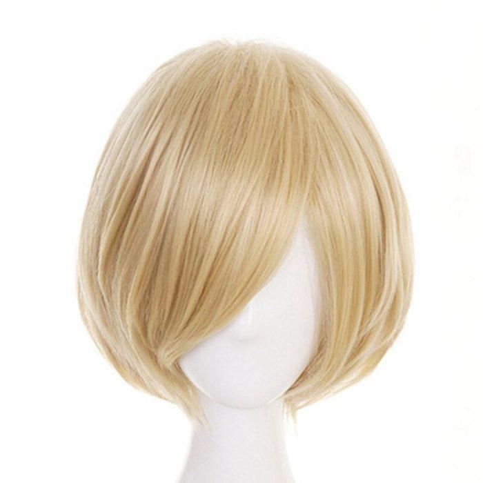 Anime Yuri!!! Auf Eis Yuri Plisetsky Yurio Kurze Blonde Heat Resistant Cosplay Kostüm Perücke 2019 6