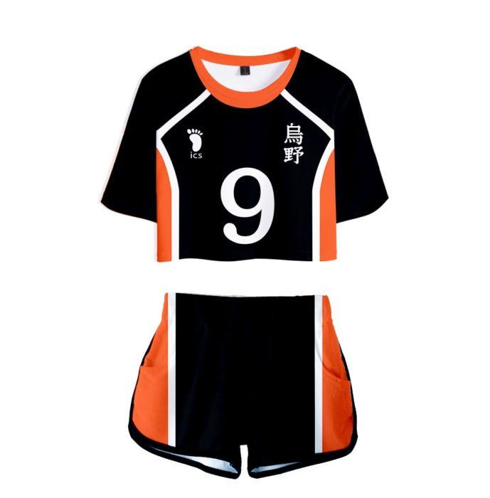 Haikyuu Cosplay Kostüm Hinata Shoyo Hemd Shorts Nishinoya Yuu Uniform Sport Karasuno Koukou Hohe Schule Volleyball Club Frauen 12