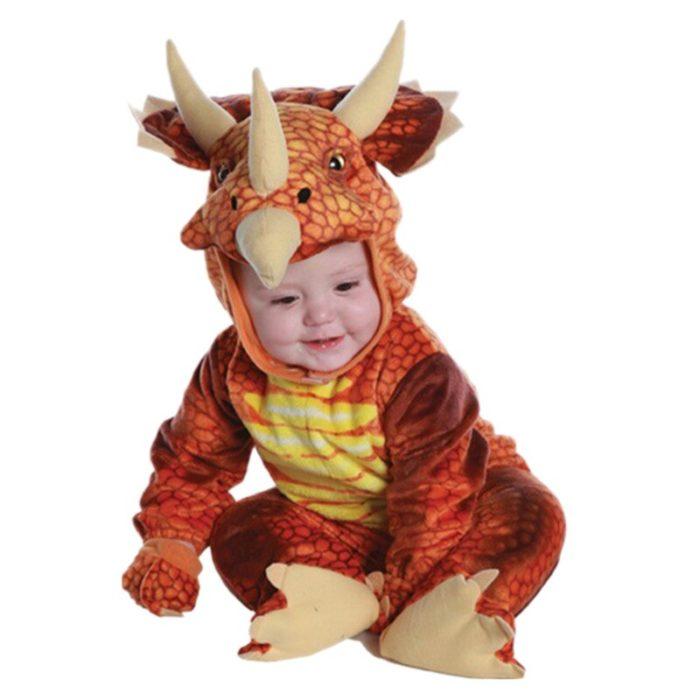 Neue Triceratops Kostüm Jungen Kinder Kleine T-Rex Kostüm Cosplay Dinosaurier Overall Halloween Cosplay Weihnachten kostüme für kinder 2