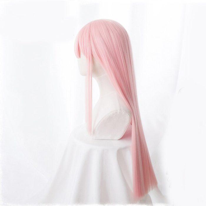 Anime LIEBLING in die FRANXX 02 Cosplay Perücken Null Zwei Perücken 100cm Lange Rosa Synthetische Haar Perucas Cosplay Perücke + perücke Kappe 4