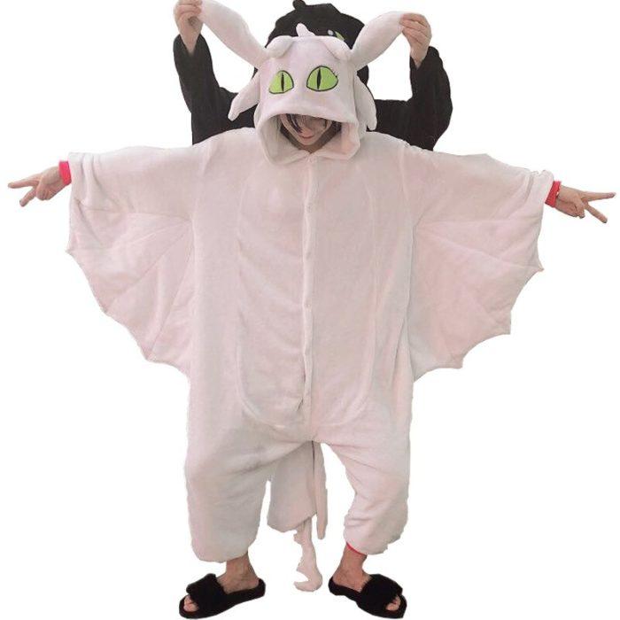 Kigurumi Anime Wie Trainieren sie Ihre Dragon Zahnlos Cosplay Kostüm Overall Pyjamas Lustige Drachen Onepiece Tier Karneval Cosplay 3