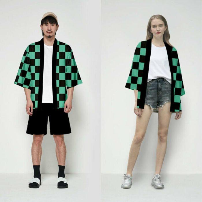 Unisex Dämon Slayer Kimetsu keine Yaiba Zeichen Cosplay Kimono Haori Mantel Shirt 5