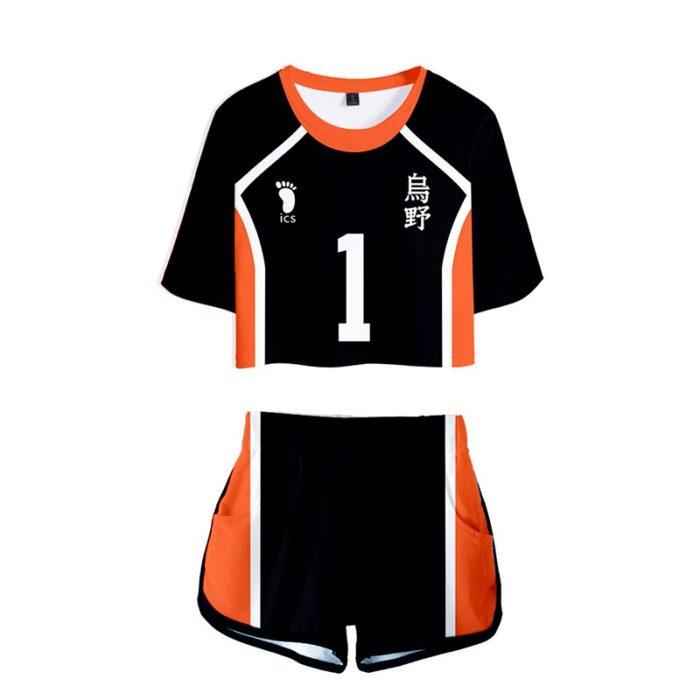 Haikyuu Cosplay Kostüm Hinata Shoyo Hemd Shorts Nishinoya Yuu Uniform Sport Karasuno Koukou Hohe Schule Volleyball Club Frauen 2