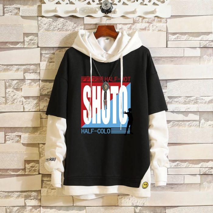 Mein Boku keine Hero Wissenschaft Midoriya Izuku Todoroki Shoto Sportswear Sweatshirts Top Gefälschte Zwei Stück Cosplay Kostüm Pullover Hoodie 3