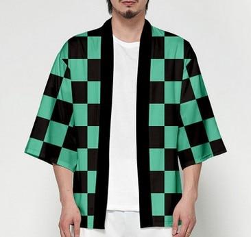 Unisex Dämon Slayer Kimetsu keine Yaiba Zeichen Cosplay Kimono Haori Mantel Shirt 8