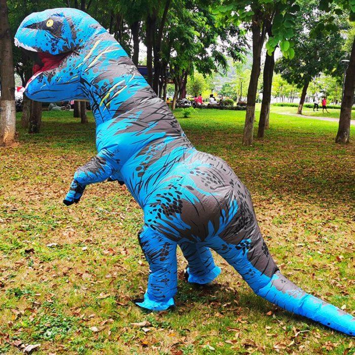 Erwachsene Kinder Aufblasbare Dinosaurier Kostüm T REX cosplay Kostüme Halloween kostüm für männer frauen Anime Phantasie Kleid anzug Karneval 5