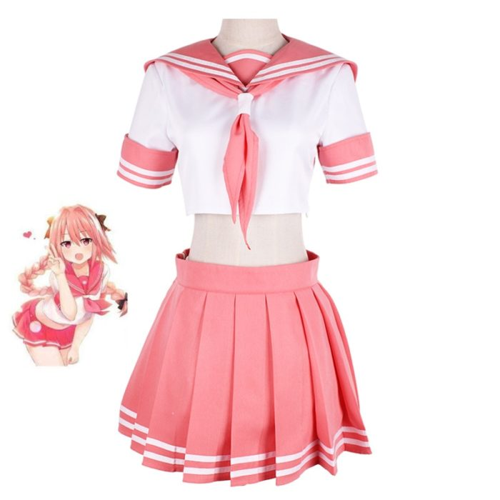 Fate/Grand Auftrag Fate Apocrypha Reiter Astolfo Cosplay JK Schuluniform Sailor Anzug Frauen Fancy Outfit Anime Halloween Kostüm 1