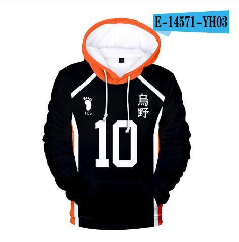 Japan Anime Haikyuu Cosplay Kostüm Fukurodani Akademie Volleyball Club Akaashi Keiji Bokuto Koutarou Unisex 3D Hoodie Sweatshirt 20