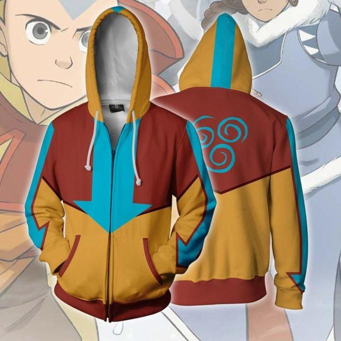 AVATAR Last Airbender-fall APPA Cosplay Hoodie Zipper Up Mit Kapuze Casual Hoodie Anime AVATAR Kostüm Dünne Jacke 5