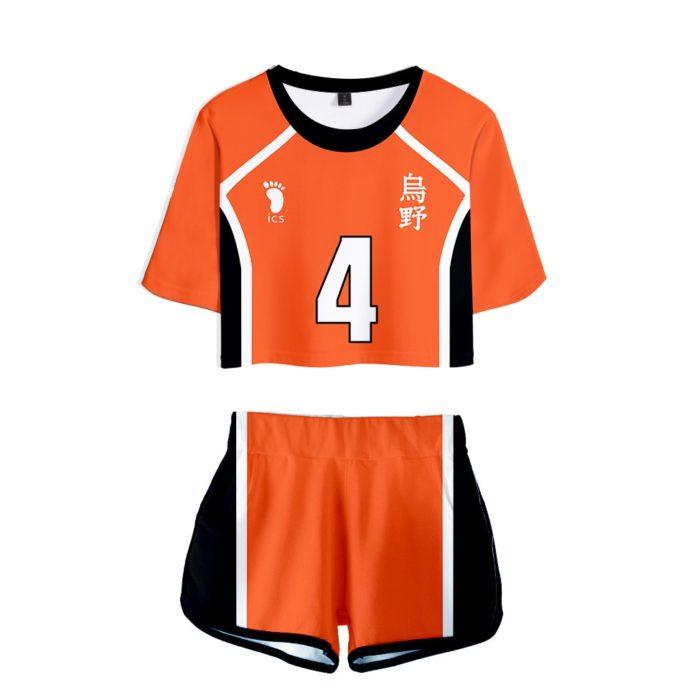 Haikyuu Cosplay Kostüm Hinata Shoyo Hemd Shorts Nishinoya Yuu Uniform Sport Karasuno Koukou Hohe Schule Volleyball Club Frauen 14