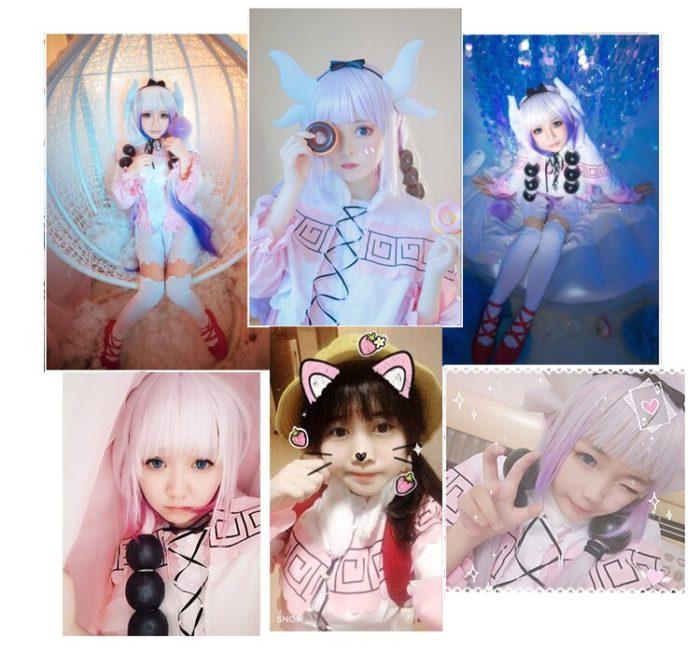 Kanna Cosplay Japanischen Anime Fräulein Kobayashi der Drachen Maid Kamui Kanna Cosplay Kostüme Halloween Weihnachten Kleid Für Frauen 6