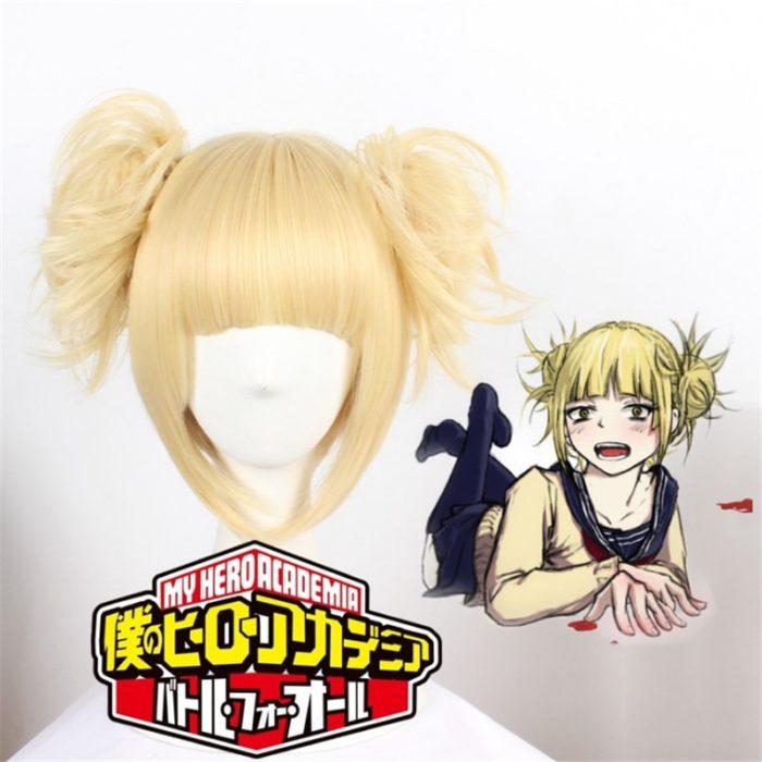Mein Hero Wissenschaft Boku keine Hero Wissenschaft Himiko Toga JK Perücke Kopf Kostüm Cosplay Gold Perücke 1