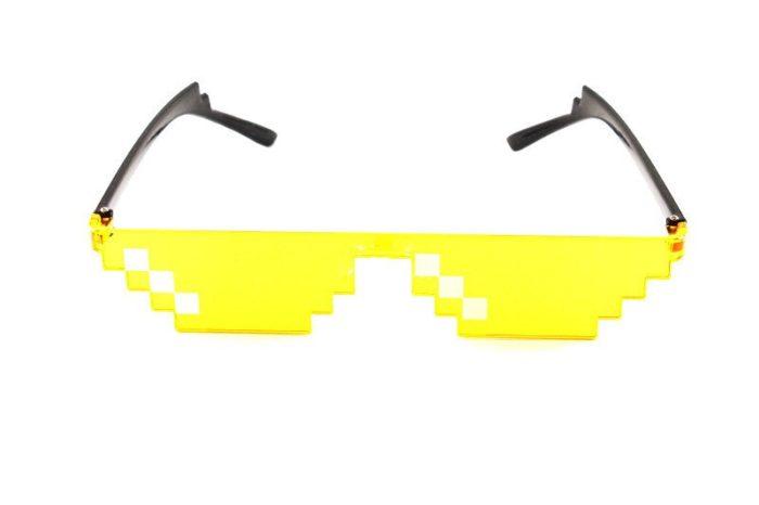 ES Mosaik Sensation Sterne Liebe Pixel Gläser Cosplay Kostüme Zubehör Brillen ACG Boss Thug Life Erwachsene Kinder Sonnenbrille 10