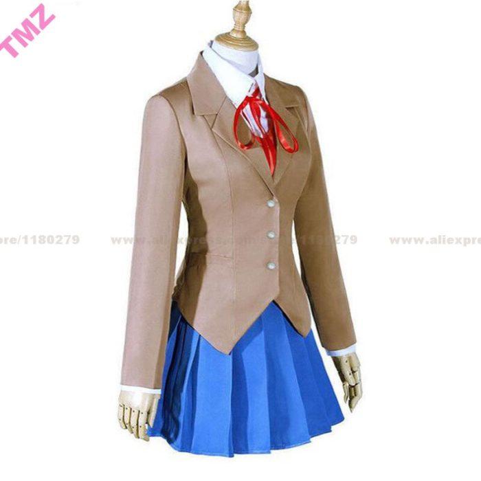 Doki Doki Literatur Club Monika Cosplay Sayori Yuri Natsuki Cosplay Kostüm Schuluniform Mädchen Frauen Kostüm Spiel 3