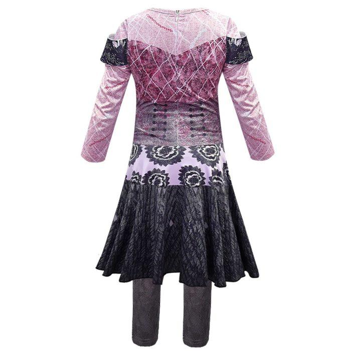 Rosa Audrey Kostüme mädchen Halloween Kostüme für Kinder Phantasie Party frauen Kostüm evie nachkommen 3 Mal Cosplay Fantasia kostüme 2