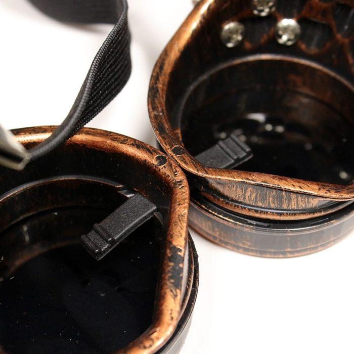 Danganronpa V3 Iruma Miu Cosplay gläser Prop Gothic Cosplay Niet Steampunk Brille Gläser Schweißen Punk 5