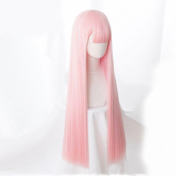 Anime LIEBLING in die FRANXX 02 Cosplay Perücken Null Zwei Perücken 100cm Lange Rosa Synthetische Haar Perucas Cosplay Perücke + perücke Kappe 3