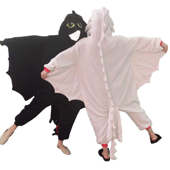 Kigurumi Anime Wie Trainieren sie Ihre Dragon Zahnlos Cosplay Kostüm Overall Pyjamas Lustige Drachen Onepiece Tier Karneval Cosplay 1