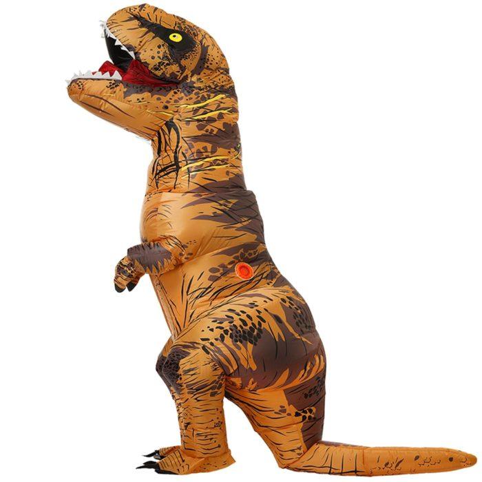 Erwachsene Kinder Aufblasbare Dinosaurier Kostüm T REX cosplay Kostüme Halloween kostüm für männer frauen Anime Phantasie Kleid anzug Karneval 1
