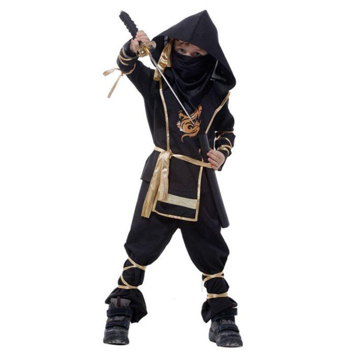 Kinder Drachen Ninja Cosplay Kostüme Karneval Party Jungen Mädchen Krieger Stealth Samurai Assassins Phantasie Kostüme 6