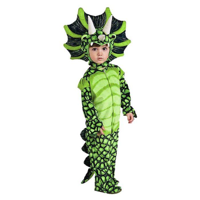 Neue Triceratops Kostüm Jungen Kinder Kleine T-Rex Kostüm Cosplay Dinosaurier Overall Halloween Cosplay Weihnachten kostüme für kinder 6