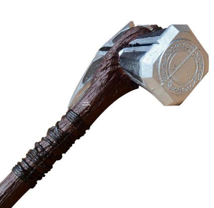 1:1 Thor Axt Hammer Cosplay Waffen Film Rolle Spielen Thor Donner Hammer Axt Stormbreaker 73cm 44cm 5