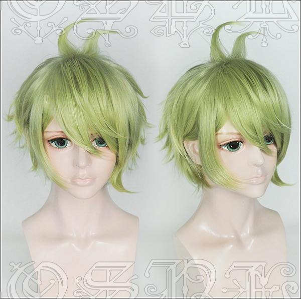 Japan Spiel Neue Dangan Ronpa V3 perücke Rantaro Amami grün styled haar perücke V3 cosplay Perücke 1