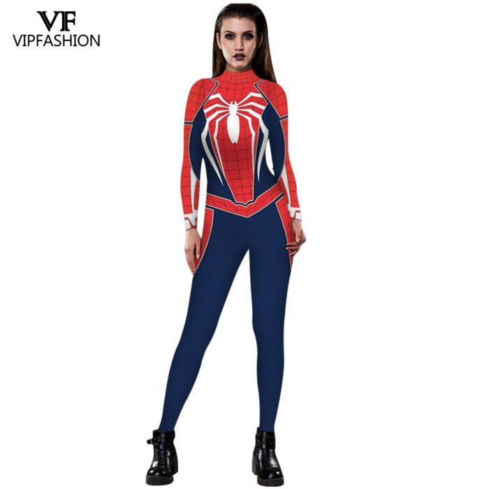 VIP MODE Lycra Spinne Cosplay Kostüm Superhero Zentai BodySuit Eisen Spinne Overall Für Halloween Kostüm 4
