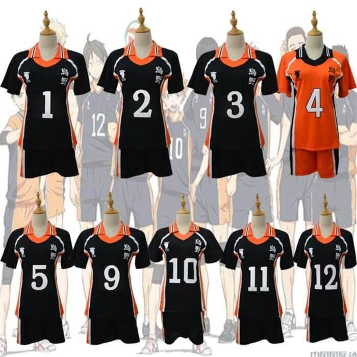9 stile Haikyuu Cosplay Kostüm Karasuno Gymnasium Volleyball Club Hinata Shyouyou Sportswear Trikots Uniform 1