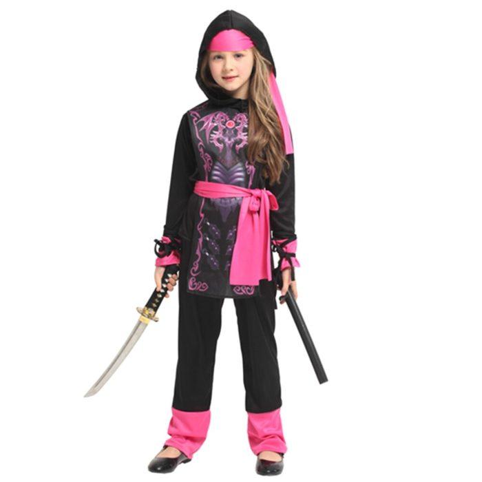 Ninja Kostüm Kind Ninjago Party Kostüme Jungen Mädchen Halloween Phantasie Kleid Superhero Cosplay Ninja Anzug Kinder Kleidung Set Geschenk 2