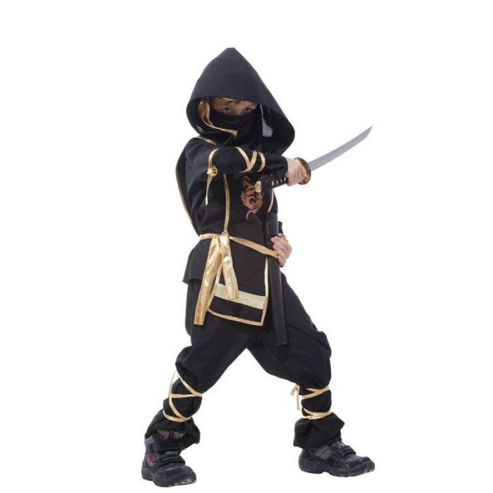 Kinder Drachen Ninja Cosplay Kostüme Karneval Party Jungen Mädchen Krieger Stealth Samurai Assassins Phantasie Kostüme 4
