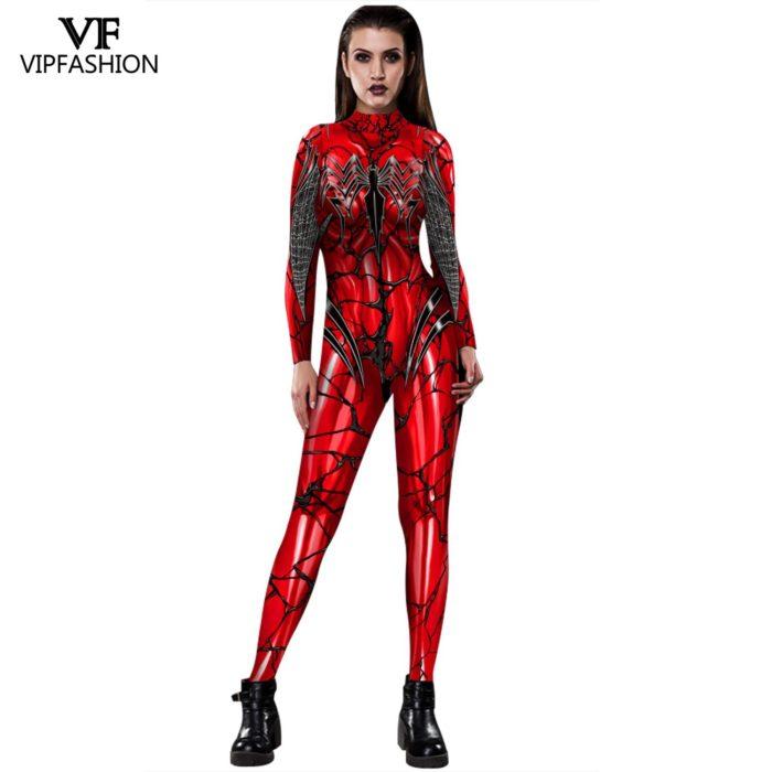 VIP MODE Lycra Spinne Cosplay Kostüm Superhero Zentai BodySuit Eisen Spinne Overall Für Halloween Kostüm 1