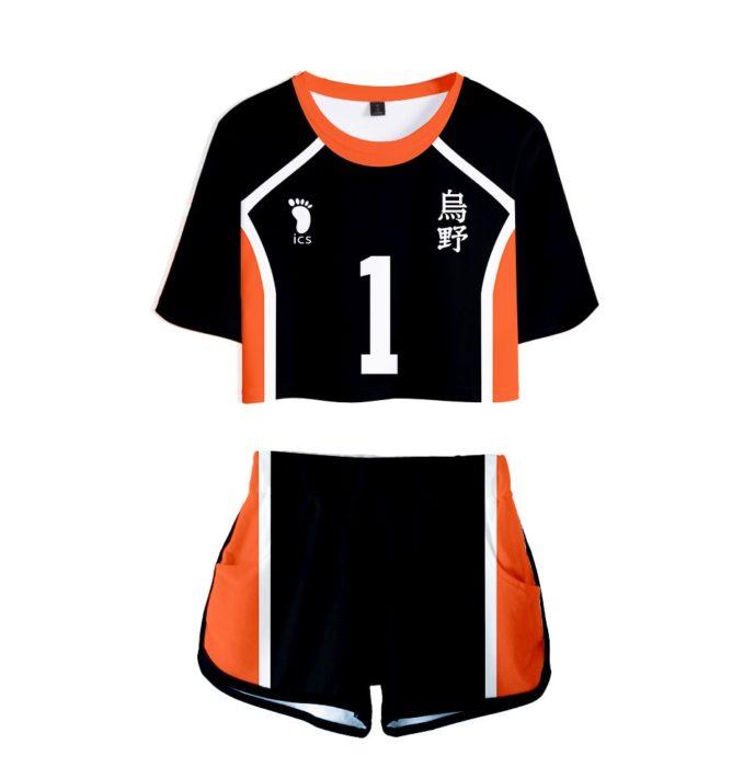 Haikyuu Cosplay Kostüm Hinata Shoyo Hemd Shorts Nishinoya Yuu Uniform Sport Karasuno Koukou Hohe Schule Volleyball Club Frauen 9
