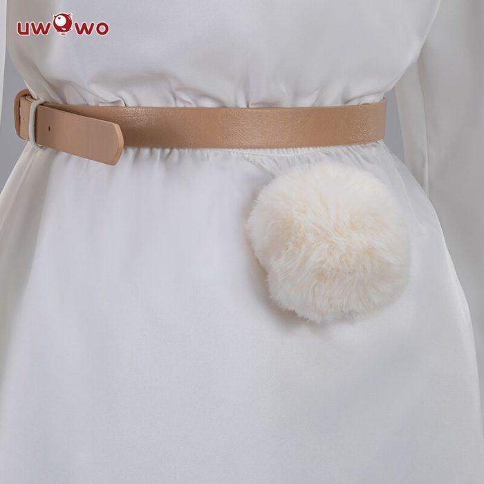 UWOWO Anime Beastars Haru Cosplay Kostüm Uniform Weiß Kaninchen Tier Nette Kleid 4