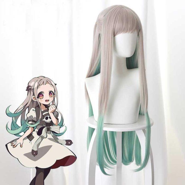 2020 Anime Hanako-kun Cosplay Kostüme Uniform Kleid Wc-Gebunden Jibaku Shounen Yashiro Nene Perücke Hanako Kun Kleid uniform Anzug 4