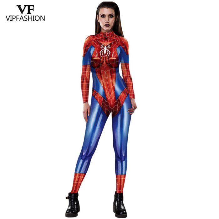 VIP MODE Lycra Spinne Cosplay Kostüm Superhero Zentai BodySuit Eisen Spinne Overall Für Halloween Kostüm 5