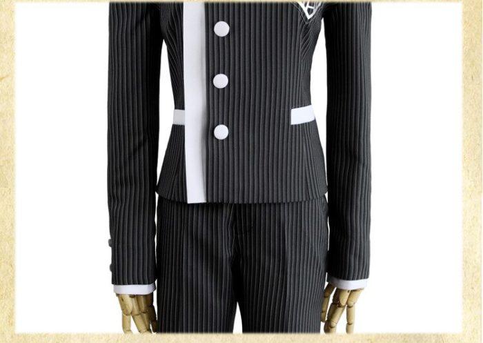 Nach Maß Neue Danganronpa V3 Cosplay Saihara Shuichi Cosplay Kostüm Anime Spiel Schuluniform Anzug Outfit Mantel + Hosen + hut 3