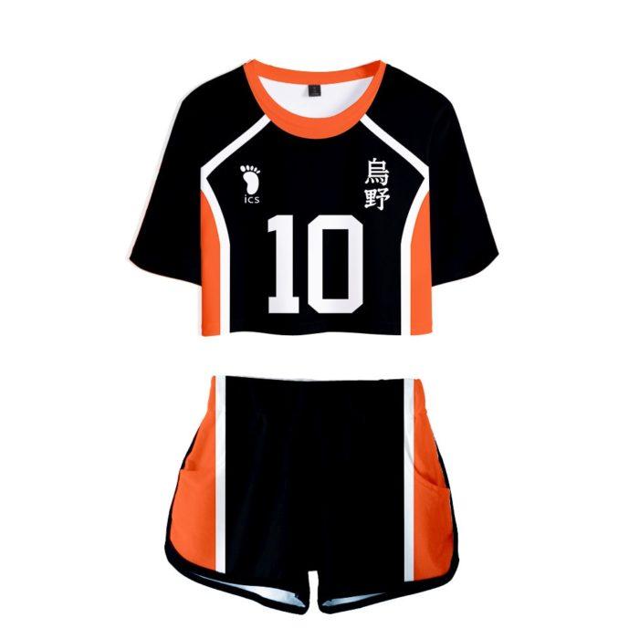Haikyuu Cosplay Kostüm Hinata Shoyo Hemd Shorts Nishinoya Yuu Uniform Sport Karasuno Koukou Hohe Schule Volleyball Club Frauen 11