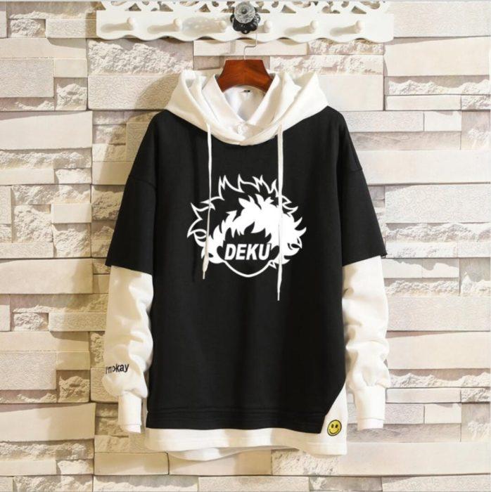 Mein Boku keine Hero Wissenschaft Midoriya Izuku Todoroki Shoto Sportswear Sweatshirts Top Gefälschte Zwei Stück Cosplay Kostüm Pullover Hoodie 4