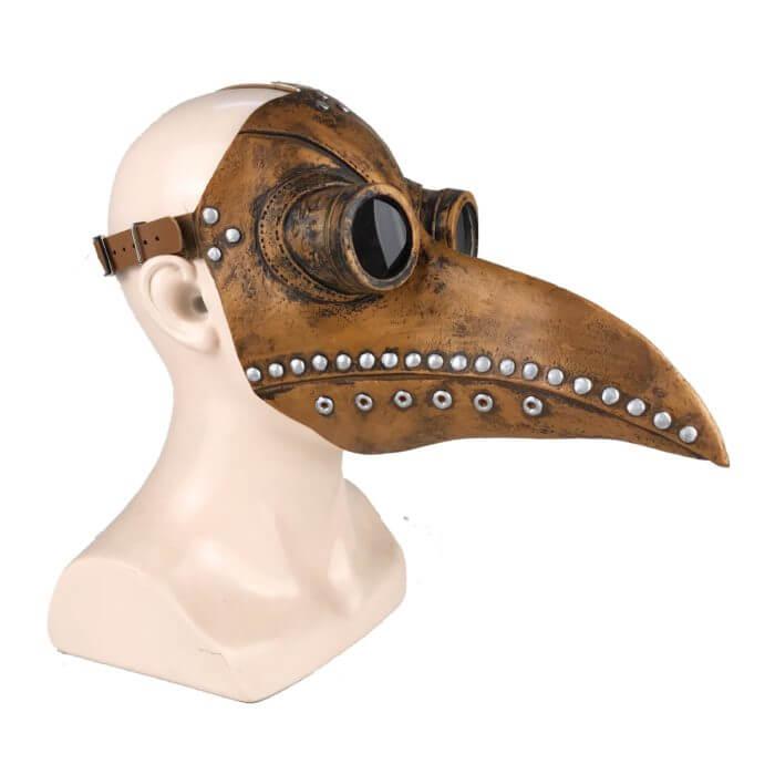 Lustige Medieval Steampunk Pest Arzt Vogel Maske Latex Punk Cosplay Masken Schnabel Erwachsene Halloween Event Cosplay Requisiten 5